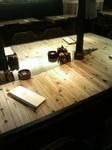 寄せ木のテーブル